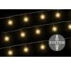 diLED világító lánc - 100 LED meleg fehér karácsonyfa izzósor