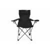 Összecsukható kemping szék DIVERO párnával - fekete