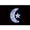 Karácsonyi dísz - hold csillaggal - hideg fehér