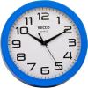 """Secco Falióra, 25 cm, kék keretes, SECCO """"Sweep second"""""""