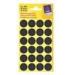 Avery Jelölőpont -3003- 18mm FEKETE AVERY <96db/csom>