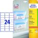 Avery Etikett -L7970-25- 63,5x33,9mm FEHÉR fagyasztó címke AVERY <25lap/dob>