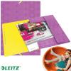 Leitz Gumis mappa-45150065-műanyag RETRO CHIC A/4 LILA LEITZ