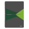 Leitz Spirálfüzet -46480055- A4 vonalas laminált karton borítás Zöld Leitz