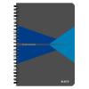 Leitz Spirálfüzet -44580035- A5 kockás laminált karton borítás Kék Leitz