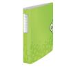 Leitz Gyűrűskönyv -42400064-lakkfényű 30mm gerinc 2gyűrűs metál Zöld LEITZ