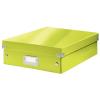 Leitz Rendszerező doboz-60580064- M méret Zöld CLICK&STORE