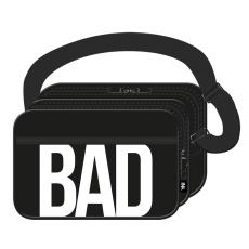 Interdruk Oldaltáska BAD/GOOD fekete INTERDRUK <10db/csom>