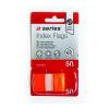 A-Series Index 25x43mm műanyag NARANCS a-series <50címke/csom>