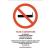 No-name Információs matrica 210x300 mm Tilos a dohányzás! öntapadós