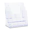 JansenDisp Brosúratartó A5 három rekeszes asztali falra szerelhető Jansen Dispay