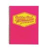 """Pukka pad Spirálfüzet, A4, kockás, 100 lap, PUKKA PAD """"Jotta Neon"""", rózsaszín"""
