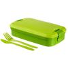 """CURVER Ételtartó, evőeszközzel, CURVER """"Lunch&Go"""", zöld"""