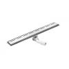 Deante lineáris lefolyó rács mintával, szifonnal 80x12x9,8 cm rozsdamentes acél