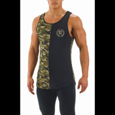 GymBeam Clothing CamoLuxe Tank Black atléta - GymBeam