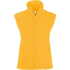 KARIBAN női mikropolár mellény, sárga