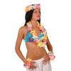 Hawaii szett, deluxe ( 1db fejdísz, 1db virágnyaklánc, 2db csuklódísz)