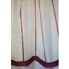 Bordó csíkos organza kész függöny, bordűrös/0016/Cikkszám:01150822