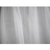 Fehér voila maradék fekete ezüst csíkos 100x210cm/0016/Cikksz:1240347