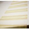 Fehér arany organza csíkos dekor terítő, hosszú/Cikksz:023143
