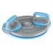 KLARFIT Klarfit Klartwist rotációs diszk 3 az 1-ben, egyensúlyozó tárcsa, fekvőtámasz keret, kék