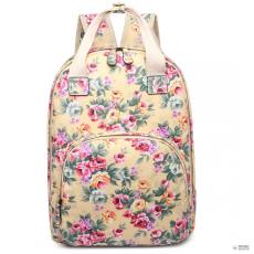 Miss Lulu London LG1658-Miss LuLu virágos Print több zseb táska hátizsák táska