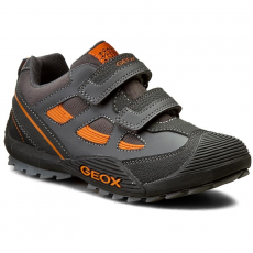 Geox Félcipő GEOX - J Savage B J5424B 05411 C1361 Dk Grey/Orange