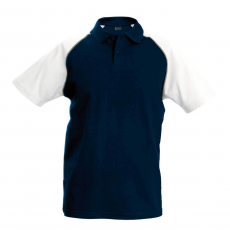 KARIBAN galléros póló, sötétkék/fehér
