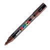 Dekormarker UNI POSCA PC-5M 1.8-2.5 mm, kúpos, BARNA