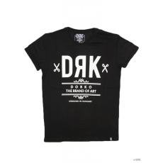 Dorko Unisex Rövid ujjú T Shirt BLACK DRK FRONT TEE