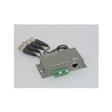 A-MAX AXGL010 passzív video balun 4 csat, RJ45, 8-as sorkapocs, lengő BNC biztonságtechnikai eszköz