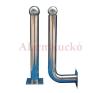 ALEAN ALF-30L tartó, L forma (2 sugarashoz) 30cm fém biztonságtechnikai eszköz
