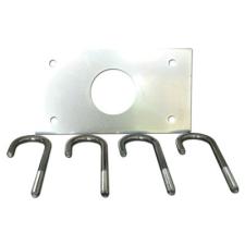 Faac F490073 Talapzat lemez a 615 típusú sorompóhoz, a sorompóház földhöz rögzítésére biztonságtechnikai eszköz