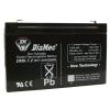 DIAMEC DM6-7.2 akkumulátor biztonságtechnikai rendszerekhez és elektromos játékokhoz