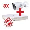 Dahua 8 db HFW1220S kamera, NVR4108 rögzítővel