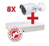 Dahua PACK-V8-HFW1000S 8 db HFW1000S kamera, NVR4108 rögzítővel biztonságtechnikai eszköz