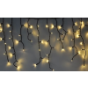 Karácsonyi jégcsap függöny, 500 db meleg fehér. villogtatható, 8 funkciós, memóriás vezérlővel. Life Light led ÚJ!