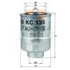 MAHLE ORIGINAL (KNECHT) MAHLE ORIGINAL KC135D üzemanyagszűrő