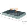 MAHLE ORIGINAL (KNECHT) MAHLE ORIGINAL LAK73/S aktívszenes pollenszűrő