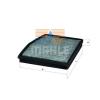 MAHLE ORIGINAL (KNECHT) MAHLE ORIGINAL LAK124 aktívszenes pollenszűrő