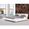 Beliani Franciaágy - Fehér szín - 160x200 cm - Bor ágy - AVIGNON