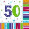 Szalvéta évszámos 16 db-os 50, 60 éves (50-es)