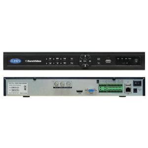 EuroVideo EVD-IP32/800A32D 32 csatornás asztali NVR, max. 1080p, 32 audio csatorna, 5 csatornás visszanézés, ONVIF