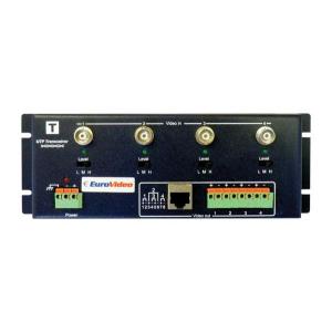 EuroVideo EVA-TTA414VT Aktív koax/UTP átalakító ADÓ egység, 4 csatornás, 12 VDC, tápegység NÉLKÜL