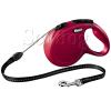 Flexi Classic zsinóros póráz M, 5m, piros
