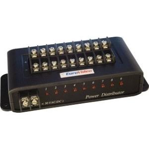 EuroVideo EVA-PD009 FESZÜLTSÉG OSZTÓ, 9 KIMENET, TÚLFESZ.ÉS VILLÁMVÉD.BE/KIMENET 1-30VAC/DC,MAX. 9A