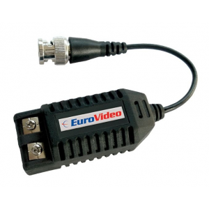 EuroVideo EVA-TGP430F Csavartérpár átalakító és földhurok leválasztó, beépített video balun, BNC+15cm koax/csavarkötés