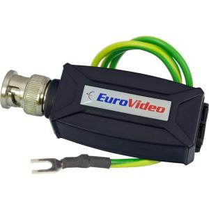 EuroVideo EVA-TTP111VTS UTP-KOAX ÁTALAKÍTÓ TÚL.FESZ VÉDELEMMEL