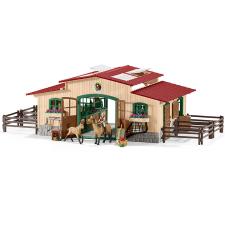 Schleich 42195 Lóistálló, lovakkal és kellékekkel játékfigura