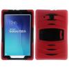 Samsung Galaxy Tab E 9.6 Ütésálló Tok Kitámasztható Duty Series RMPACK 2in1 Műanyag-Szilikon Piros
